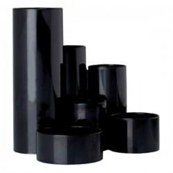 Suport instrumente de scris Flaro, 6 compartimente, negru