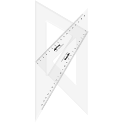 SET 2 ECHERE ROTRING CENTRO 45° SI 30/60°, 25 cm, S0237840