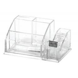 Suport instrumente scris 4 compartimente Forpus transparent