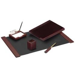 SET BIROU 5 PIESE LUX (culoare lemn mahon) EVO-EV3N01