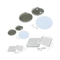 SUBANSAMBLE PRODUCTIE INSIGNE ROTUNDE CU SPATE PLASTIC DE 35 mm