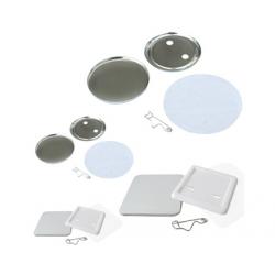 SUBANSAMBLE PRODUCTIE INSIGNE ROTUNDE CU SPATE PLASTIC DE 55 mm